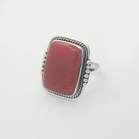 Bali Silver jewelry coral ring