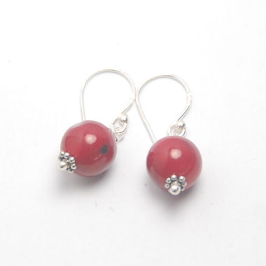 Red Coral earring Bali
