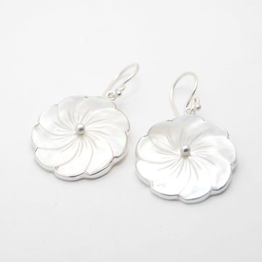 Bali shell earring unique silver
