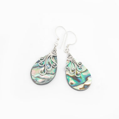 bali silver jewelry shell earring