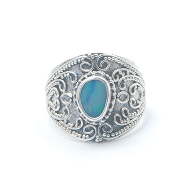 Opal ring bali silver product