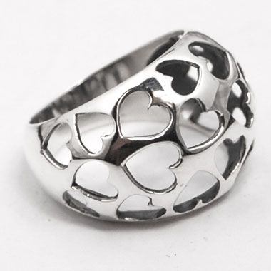 Silver jewelry ring unique design
